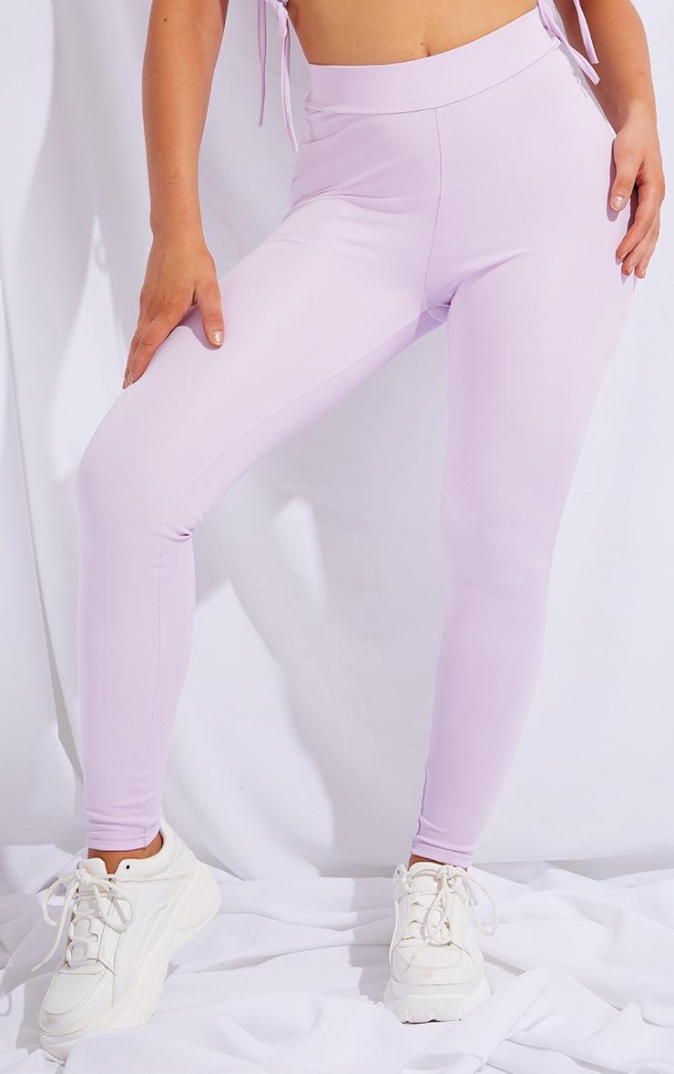 PRETTYLITTLETHING Lilac Sport Gym Leggings 2