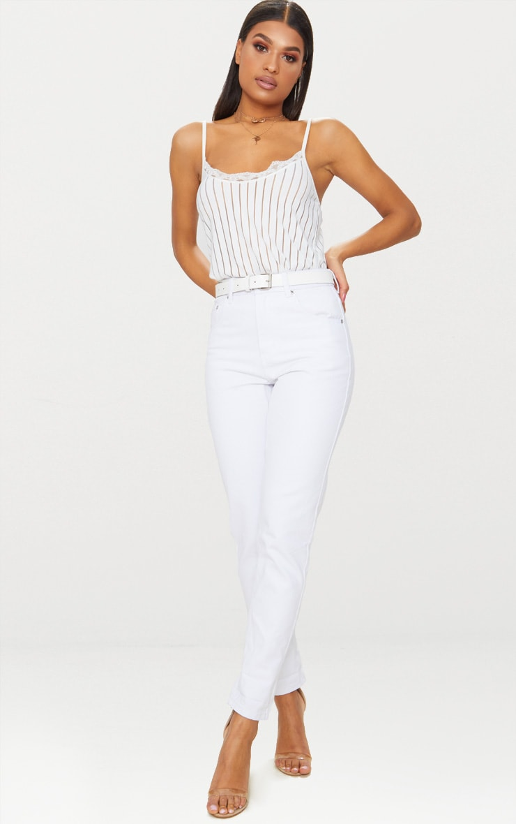 Mom White Jean 1