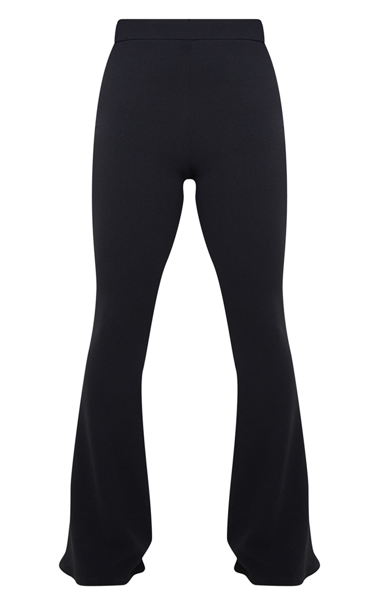 Petite Black Crepe Flared Trousers  3
