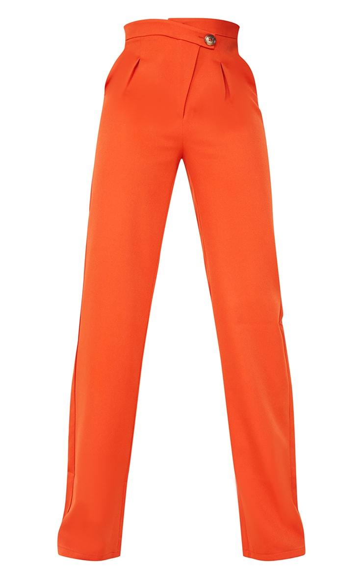 Tall Rust Asymmetric Dad Pants 5