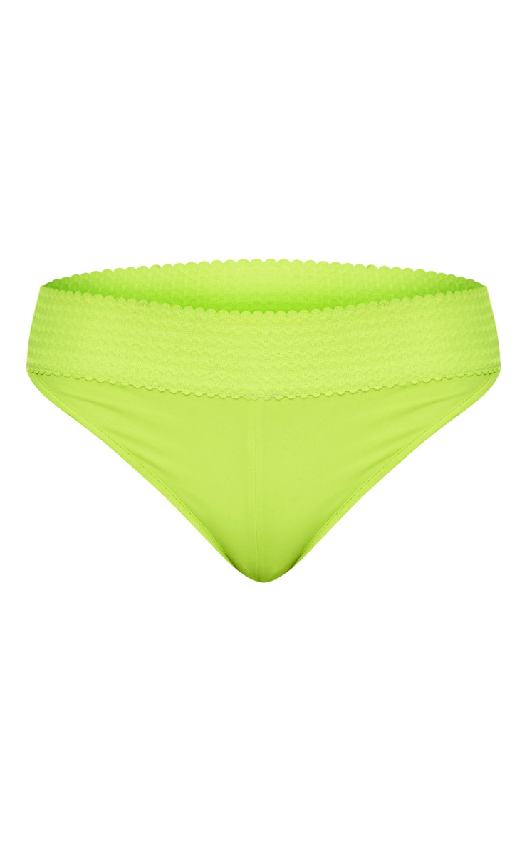 Lime Bandage Detail Bikini Bottom 3