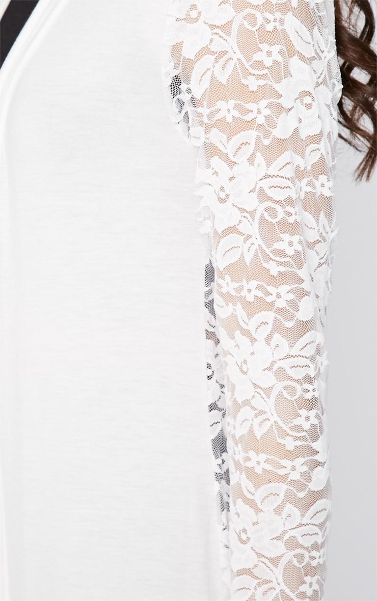 Roxie Cream Long Length Kimono  3