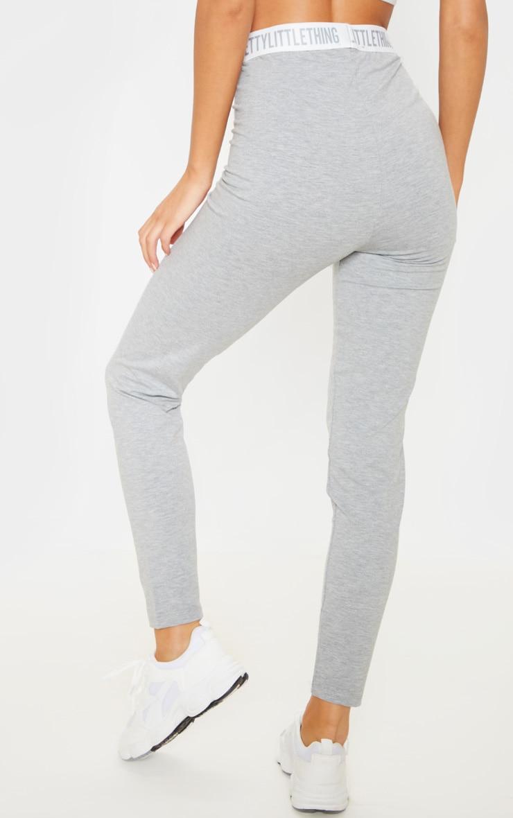 PRETTYLITTLETHING Grey High Waisted Legging 4