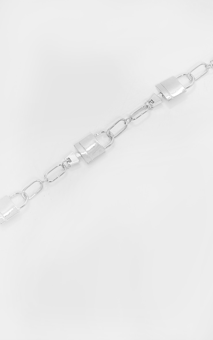 Silver Multi Padlock Necklace 4