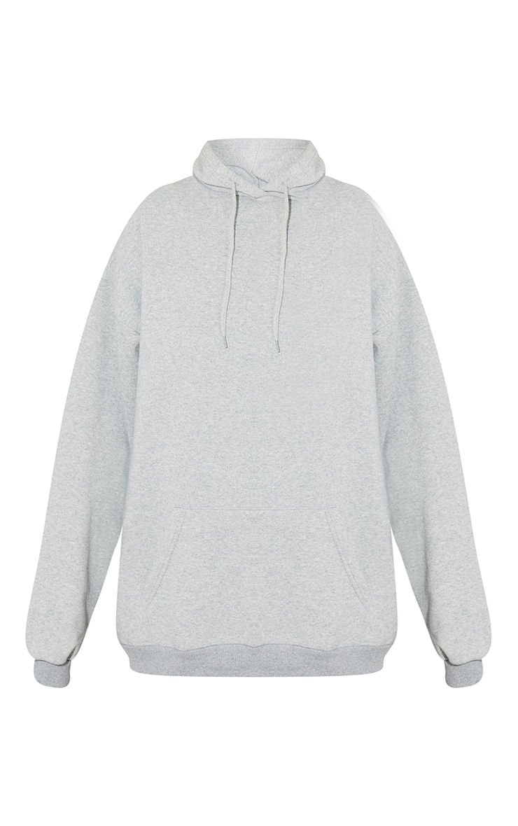 Grey Los Angeles Textured Embroidered Back Print Hoodie 5
