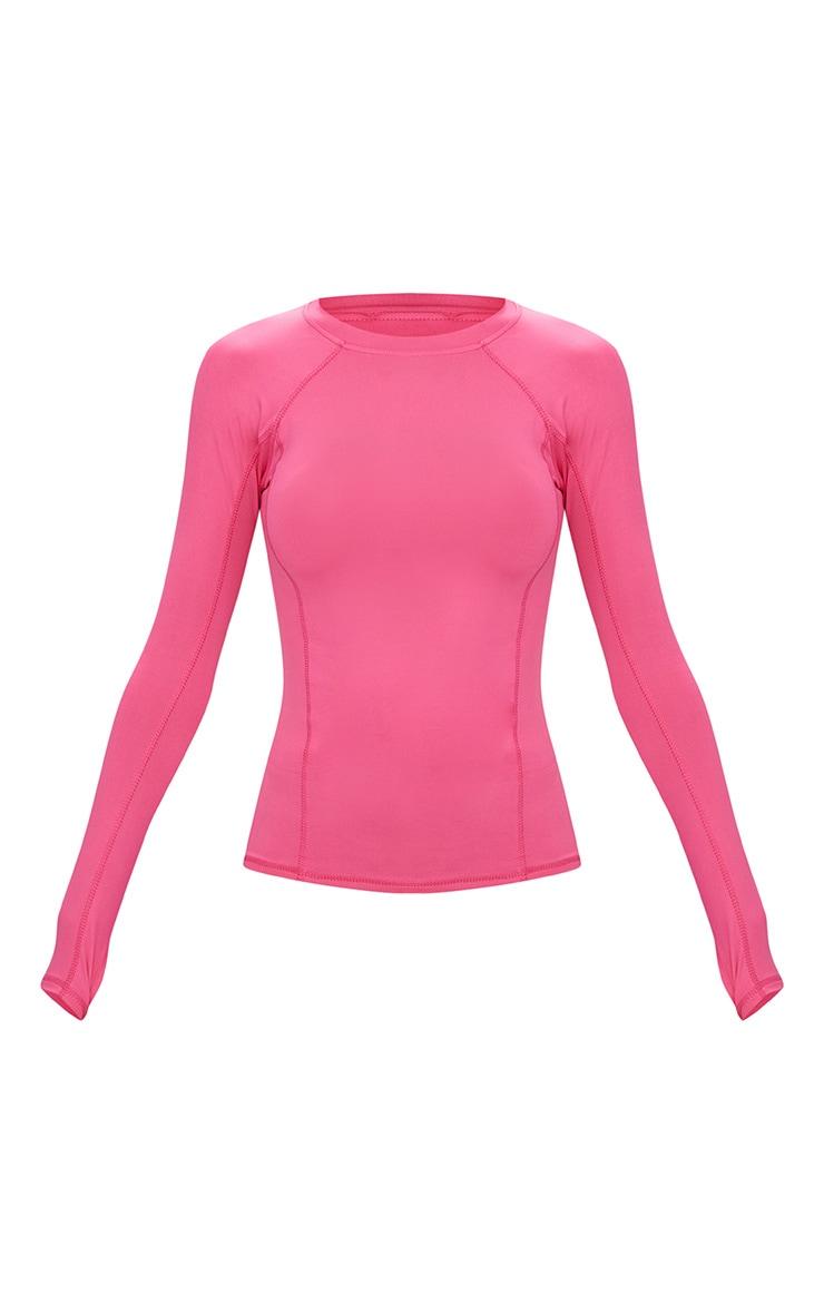 Pink Long Sleeve Gym Top  3