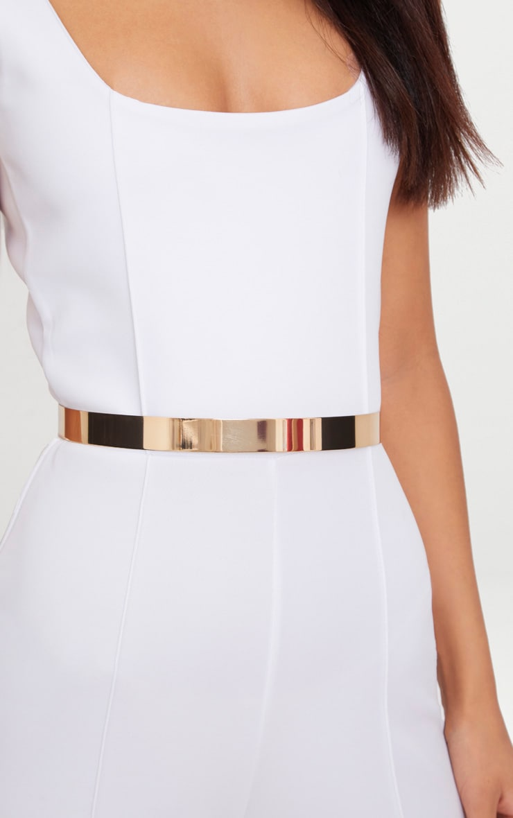 Gold Thin Metal Plated Waist Belt 2