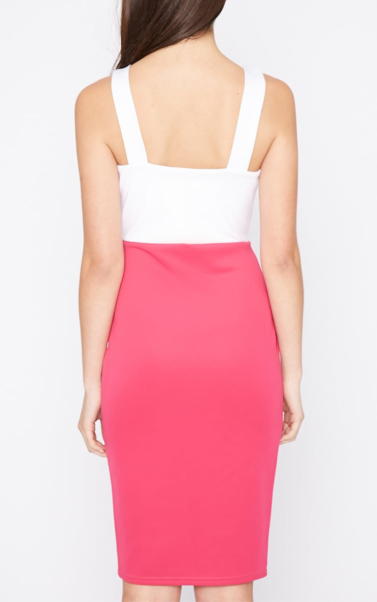 Adella Pink Bodycon Panel Dress 2