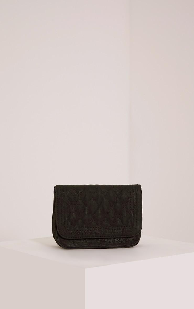 Emma Black Quilted Chain Strap Shoulder Bag 4