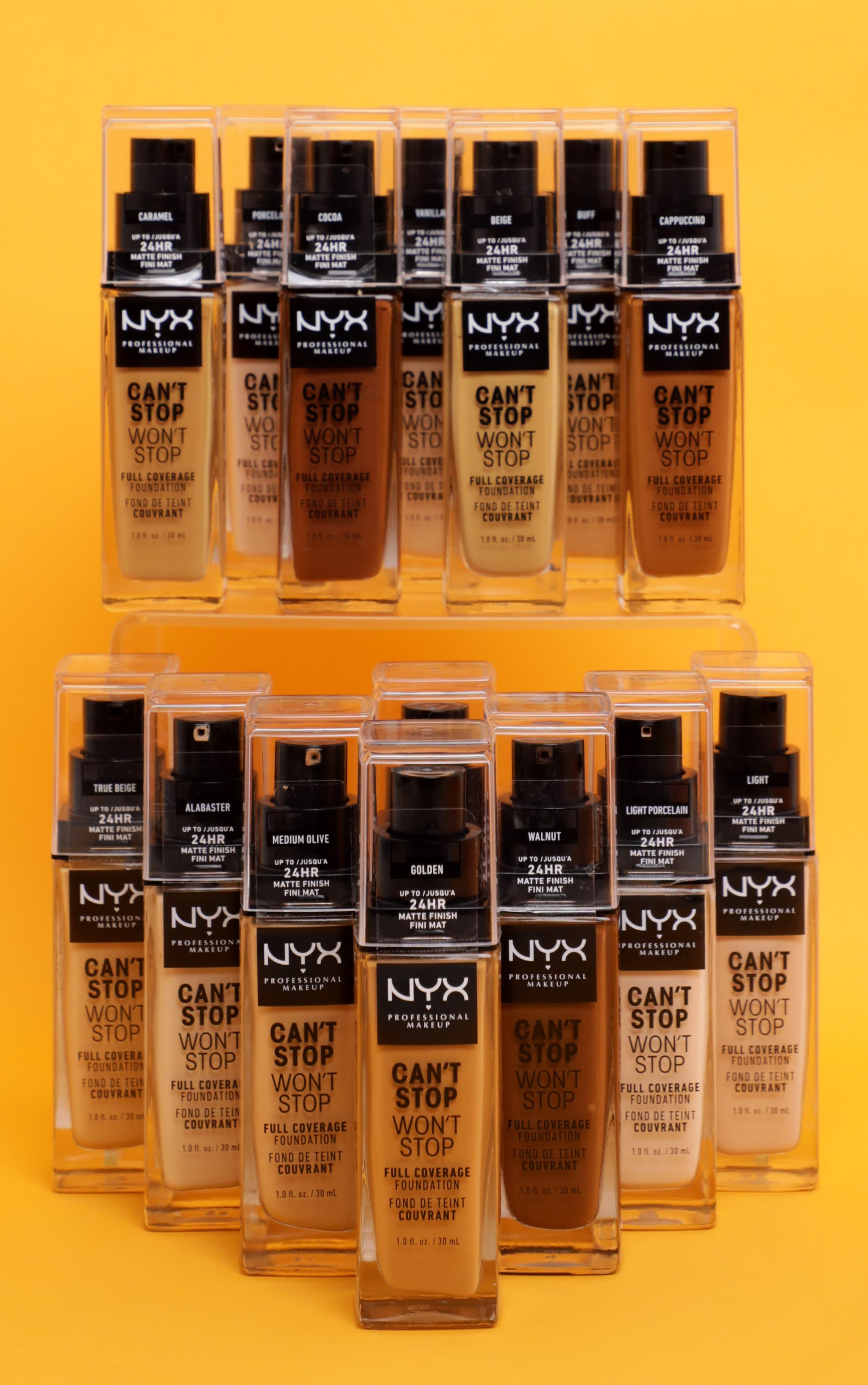NYX PMU Makeup Can't Stop Won't Stop Full Coverage Foundation Porcelain 3