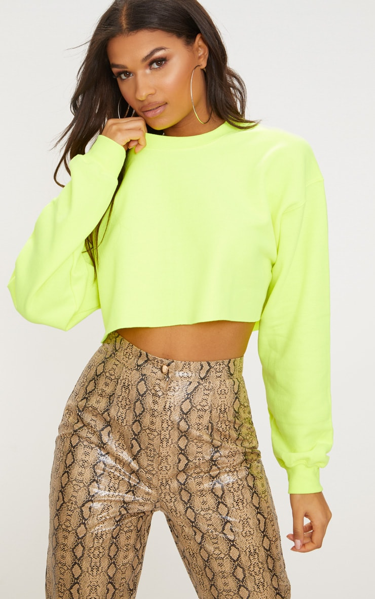 Lime Ultimate Cropped Sweater 1
