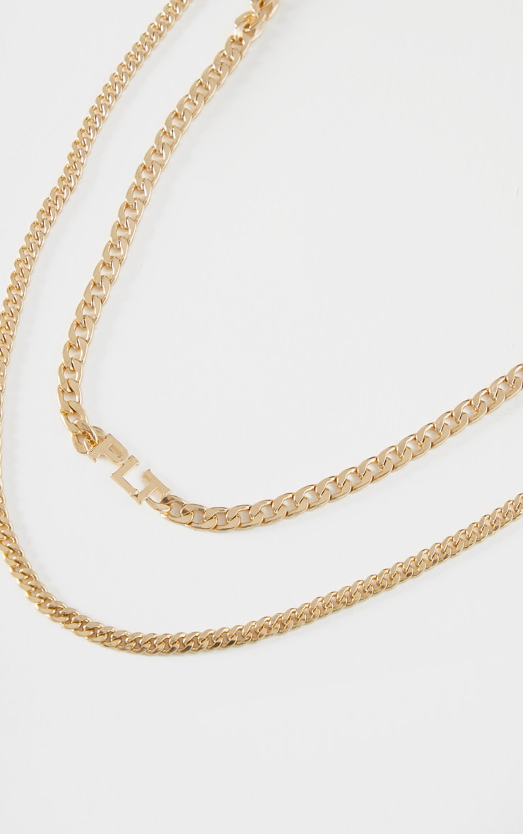 PRETTYLITTLETHING Gold Multi Layering Necklace 3