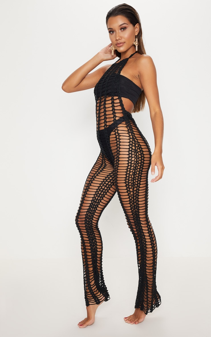 Black Crochet Jumpsuit 4