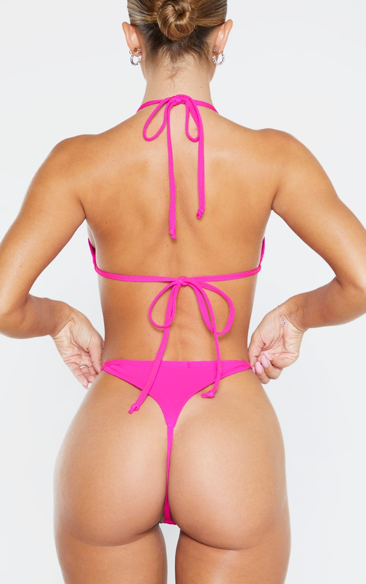 Pink Mix & Match String Thong Bikini Bottom 3