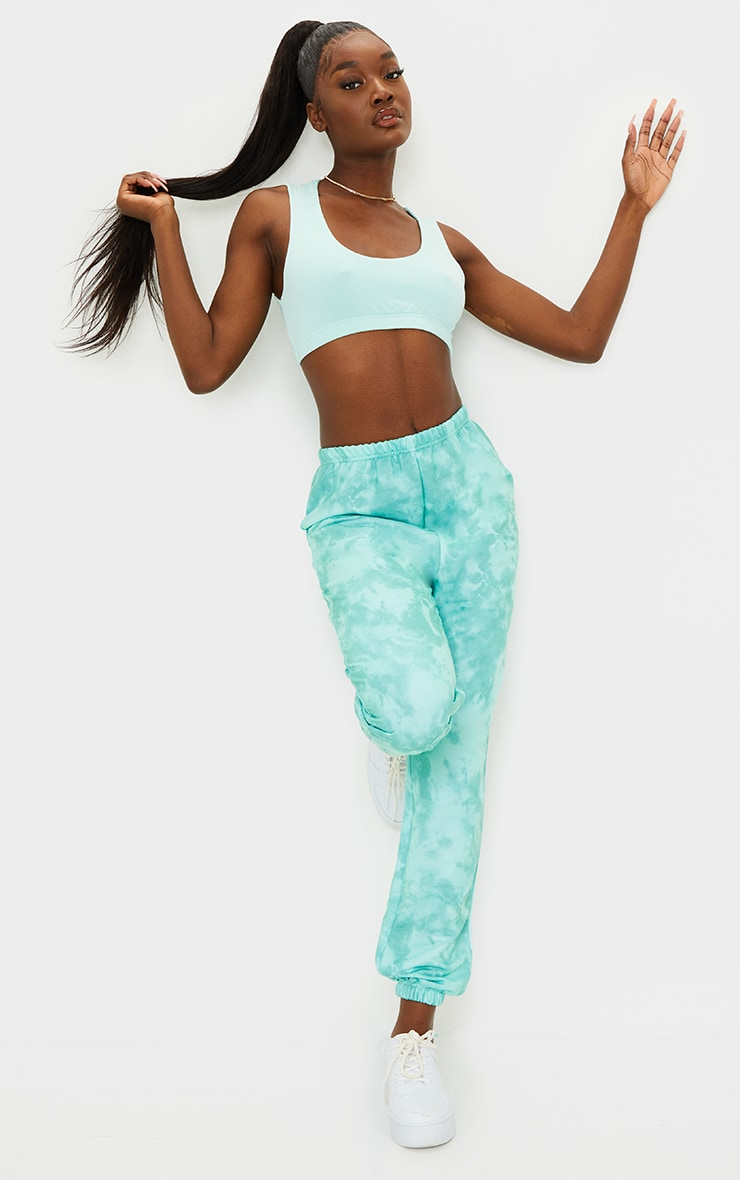 Tall Sage Green Tie Dye Basic Jogger 1