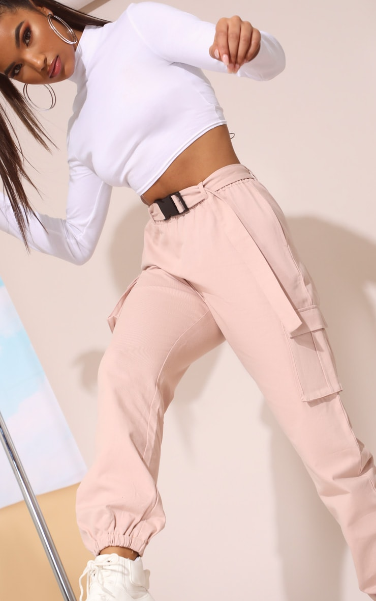Nude Utility Buckle Belt Track Pants 6
