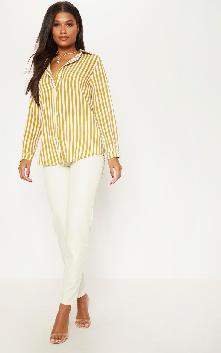 Mustard Stripe Oversized Shirt 4