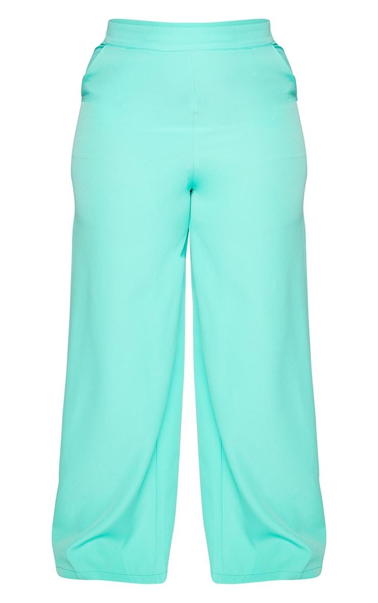 Plus Aqua Wide Leg Trousers 5