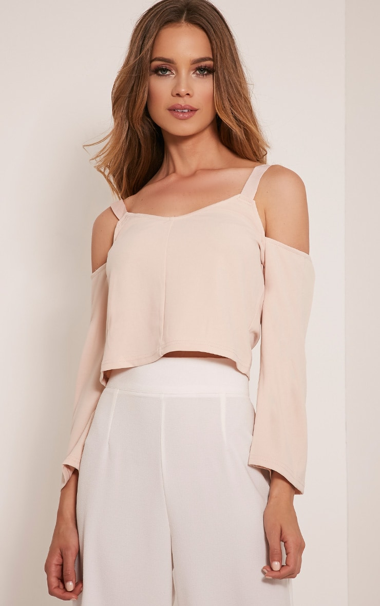 Audra Nude Drop Arm Crop Top 1