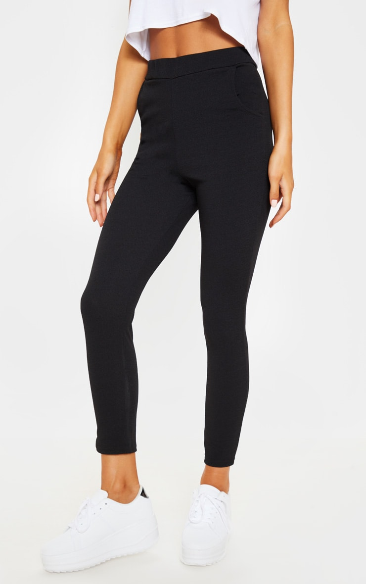 Sage Black Crepe Skinny Trousers 2