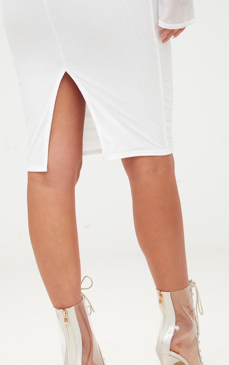 White Mesh Midi Skirt 6