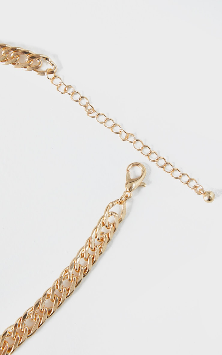 Gold Thick Short Chain Necklace 4