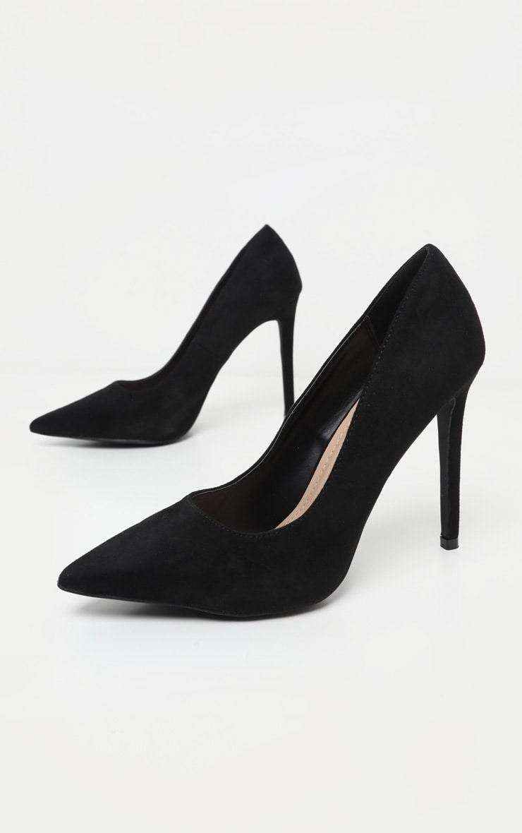 Black Heeled Court Shoes 3