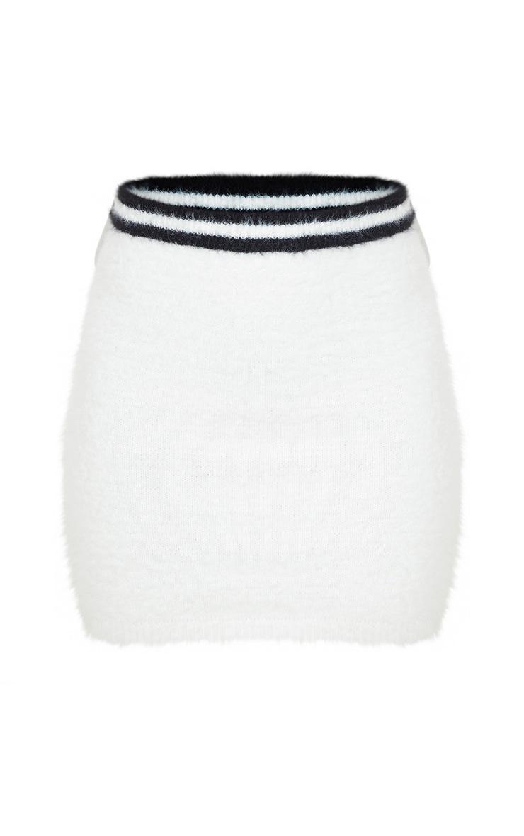 Cream Eyelash Knitted Skirt 3