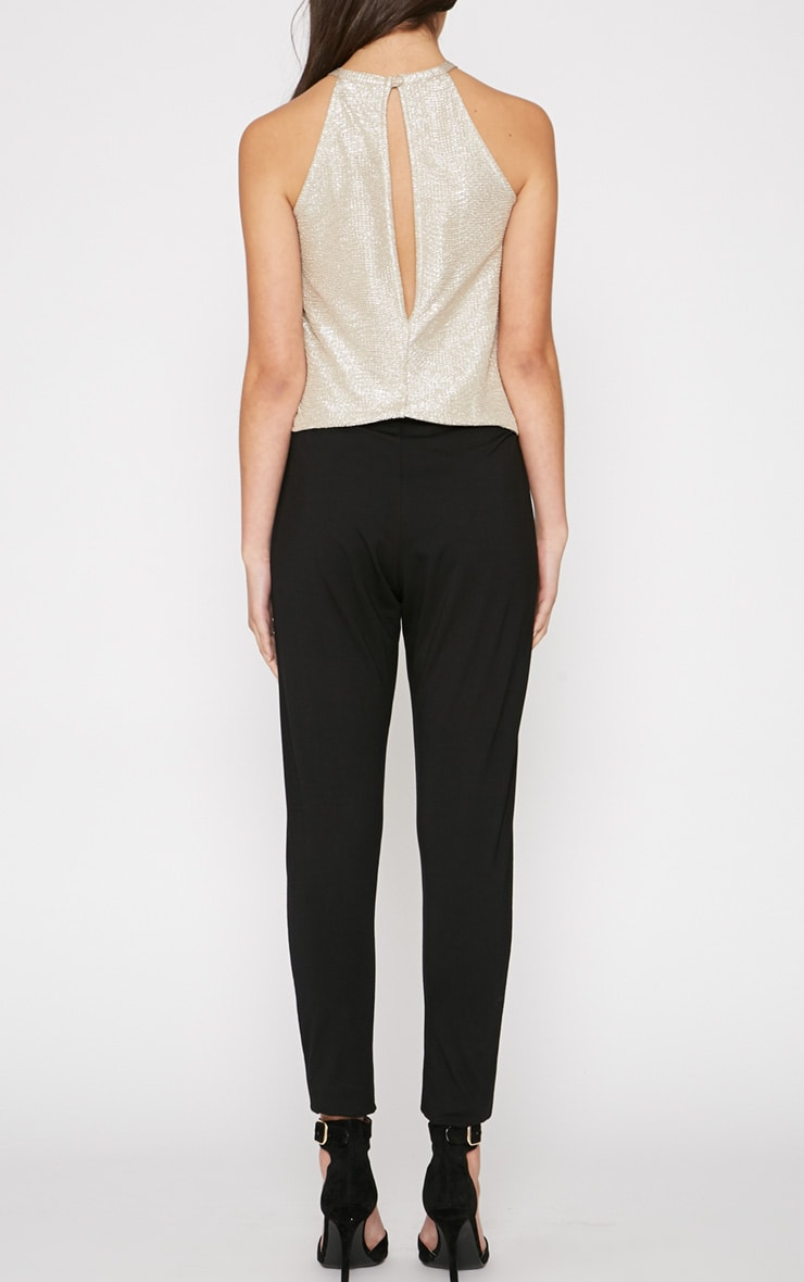 Paola Black and Gold Jumpsuit  2