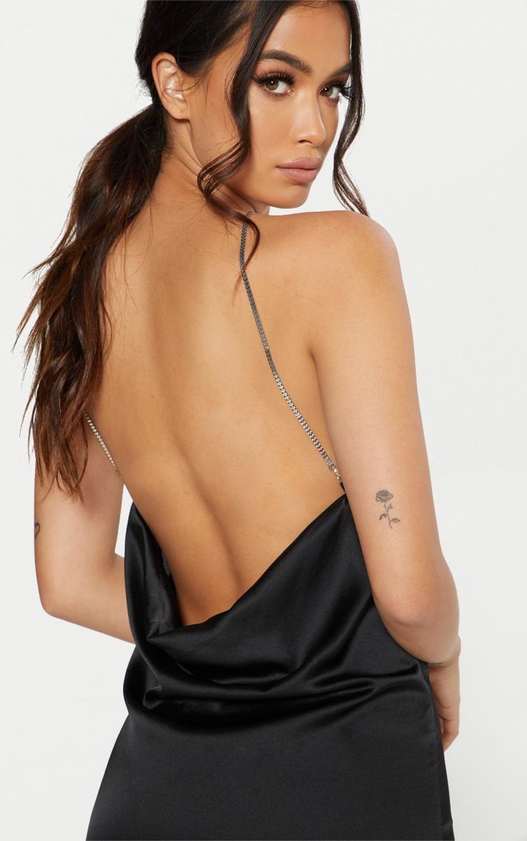 Black Chain Strap Cami Dress 5