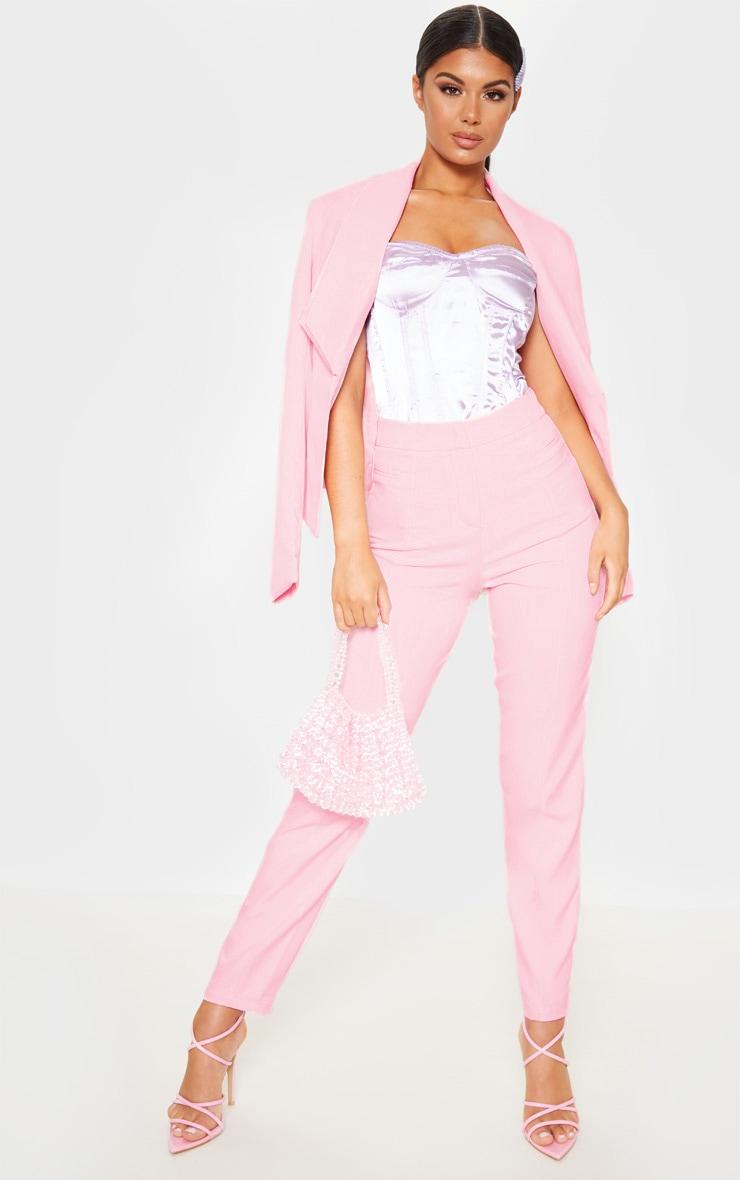 Avani pantalon de tailleur rose 1