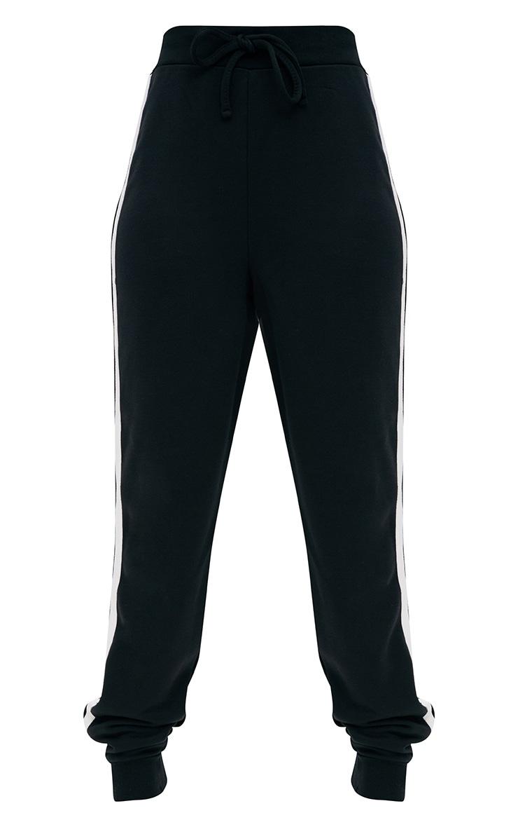 Jogging noir à rayures contrastantes  3
