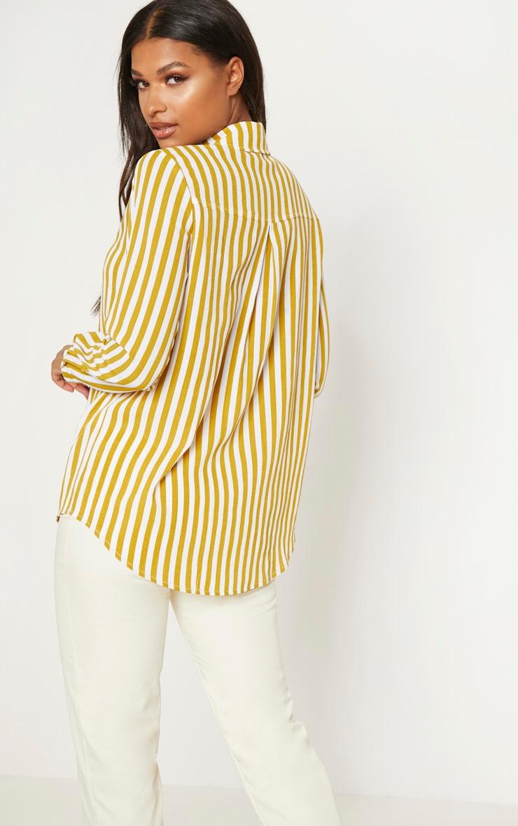 Mustard Stripe Oversized Shirt 2