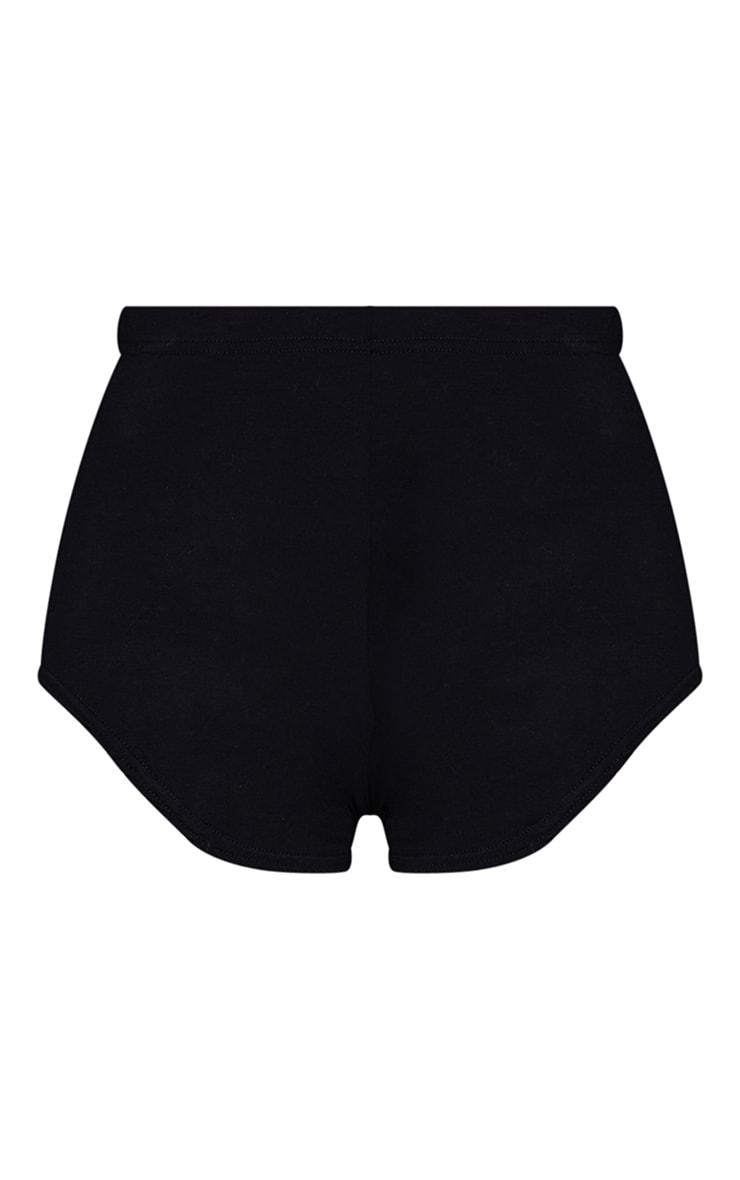 Black Basic Runner Short  6