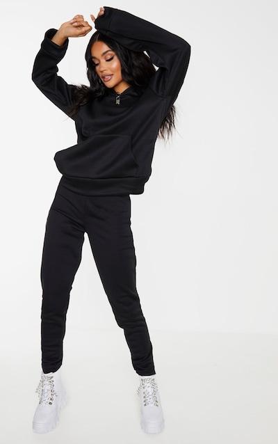 Black Basic Fleece Jogger