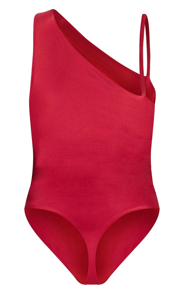 Scarlet Slinky Front Slit Bodysuit 4