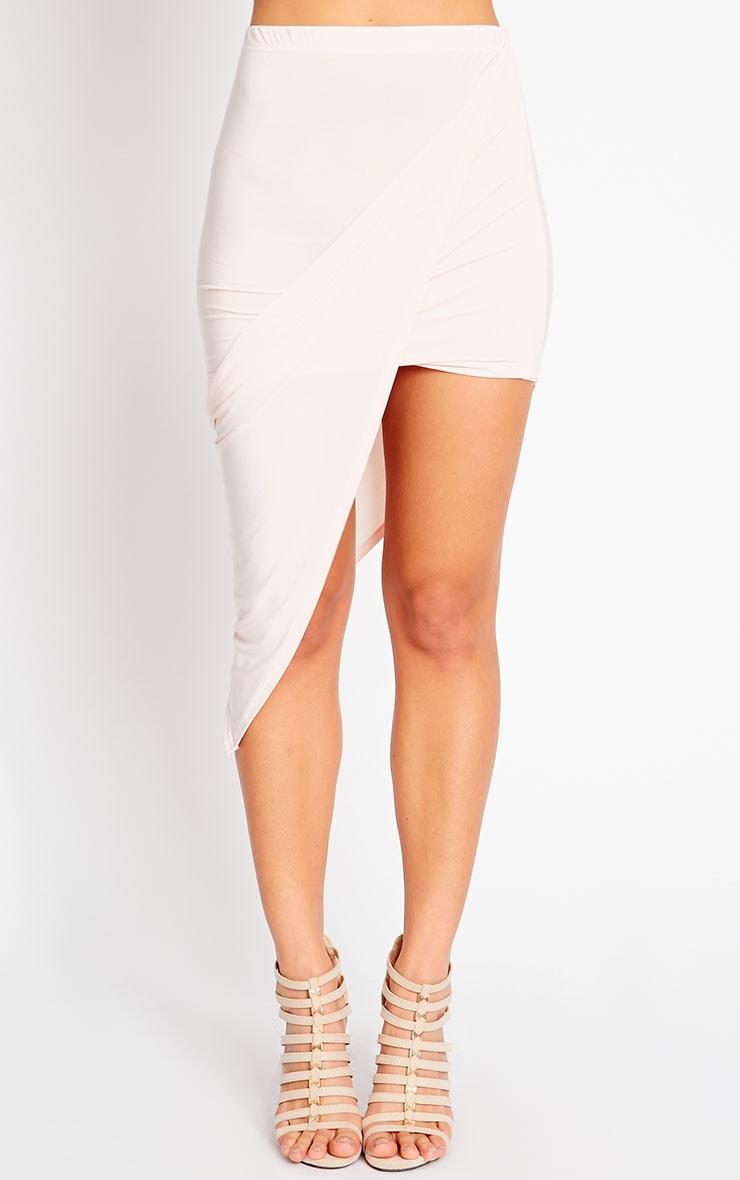 Alba Nude Slinky Drape Skirt 2