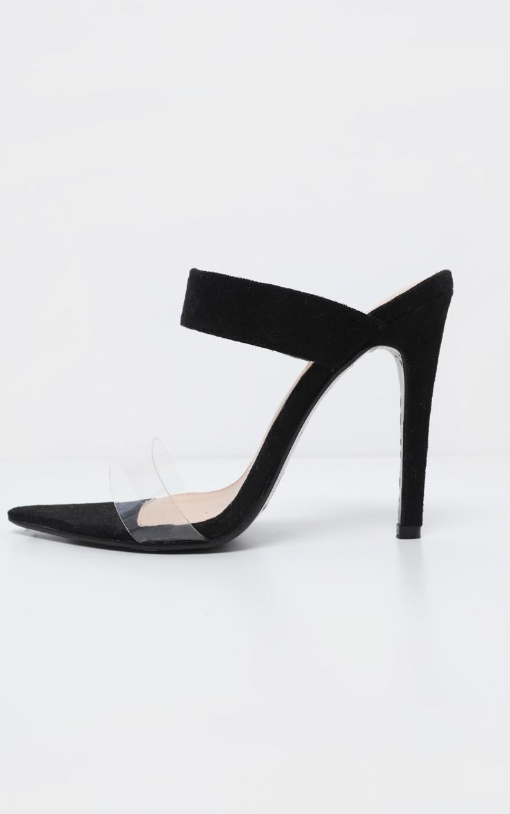 Black Point Toe Twin Strap Sandal 3