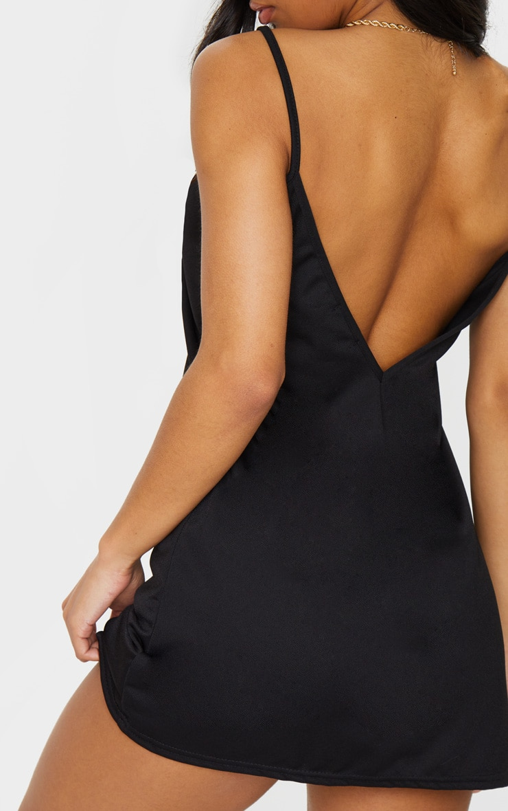 Black Strappy Detail Backless Cami Dress 4