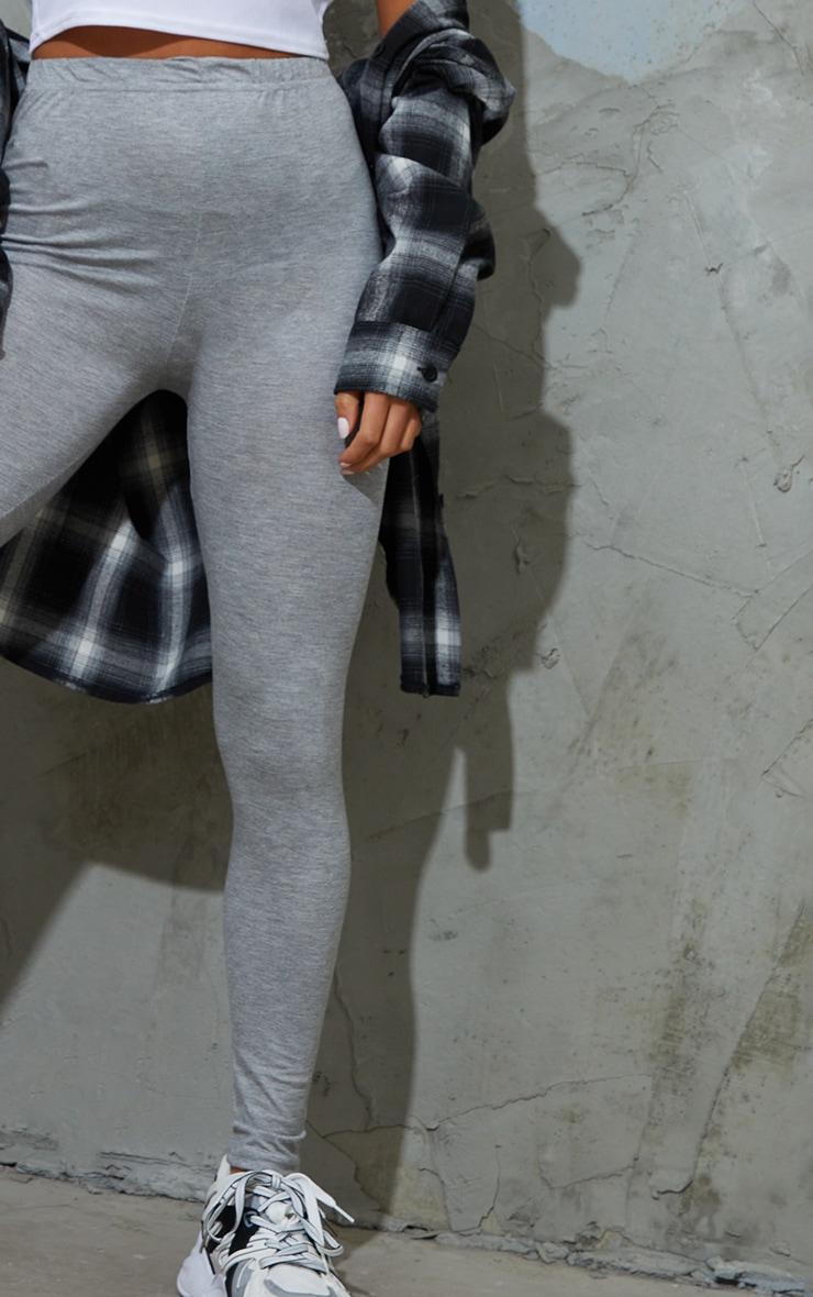Petite Clarinda Grey Basic Leggings 4