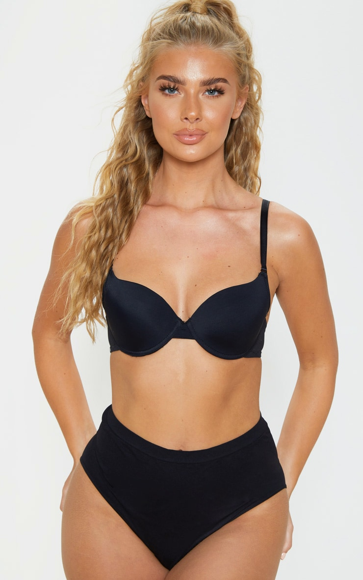 Black Basic T-Shirt Bra 1