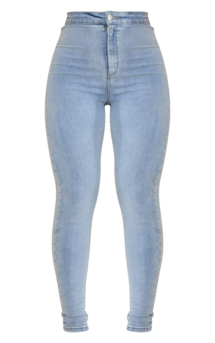 PRETTYLITTLETHING Vintage Wash Disco Skinny Jean 5