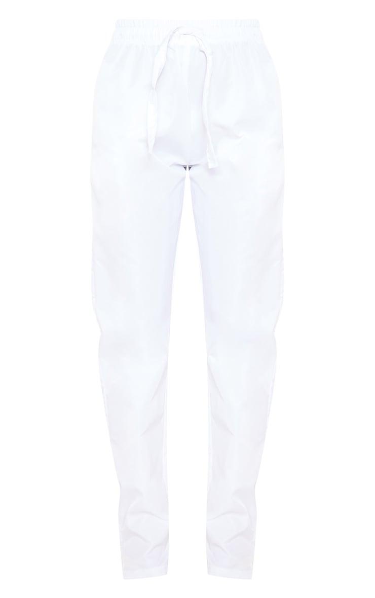 White Shell Cuff Straight Leg Pants 3