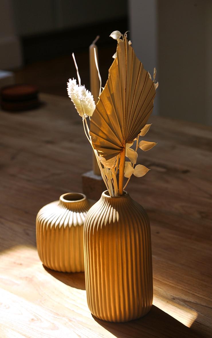 Stone Tall Ribbed Vase 2