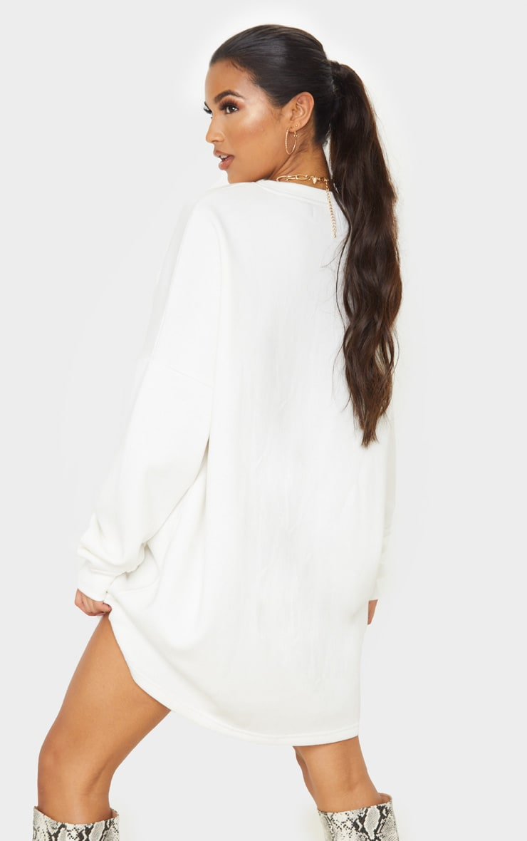 Ecru Oversized Sweater Dress 2