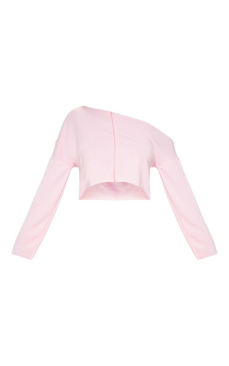 Baby Pink Off Shoulder Sweater 3