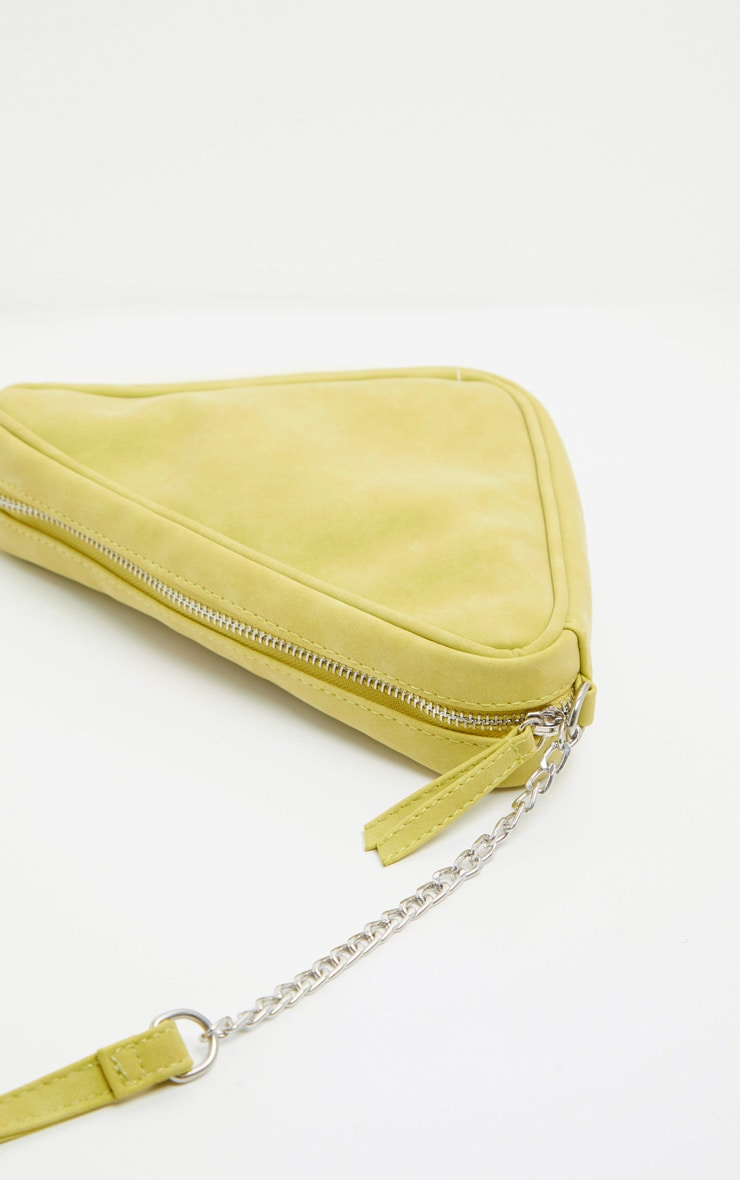 Lime Triangle Cross Body 4