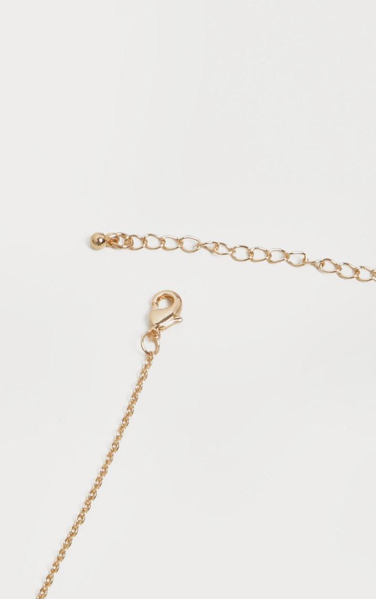 Gold Diamante Capricorn Star Sign Necklace 4