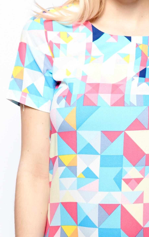 Daniela Blue Abstract Print Shift Dress 4