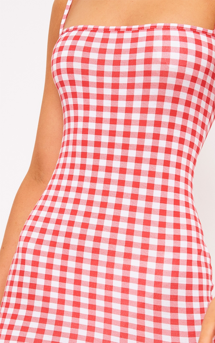 Minnie Red Gingham Bodycon Dress 5